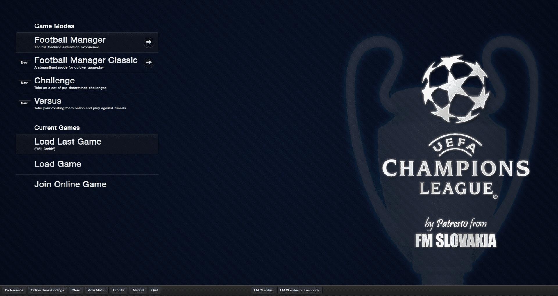 FM Slovakia Champions League skin