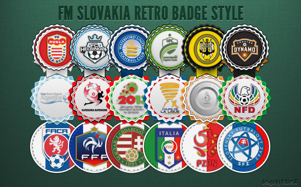 Retro badges preview