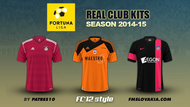 Slovak Fortuna Liga kits 2014/15