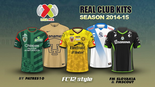 Mexican Liga MX kits 2014/15