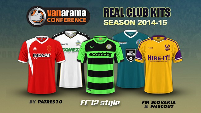 English Vanarama Conference kits 2014/15