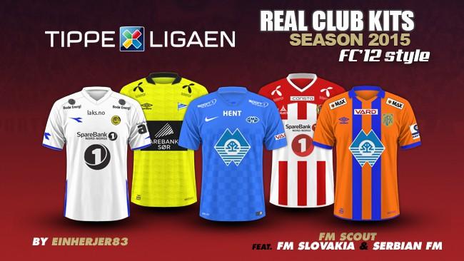 Norway Tippeligaen Kits 2015