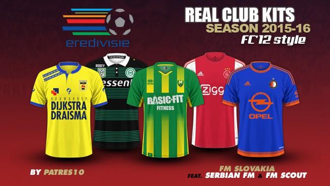 Netherlands Eredivisie kits 2015/16