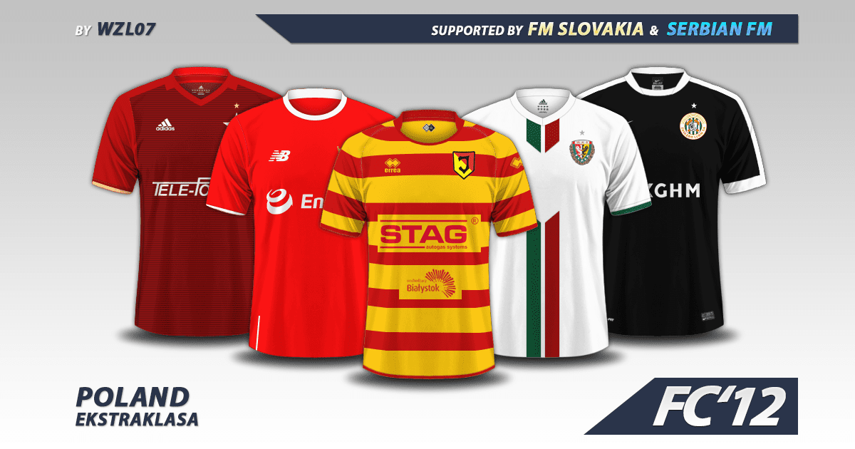 Poland Ekstraklasa kits 2016/17