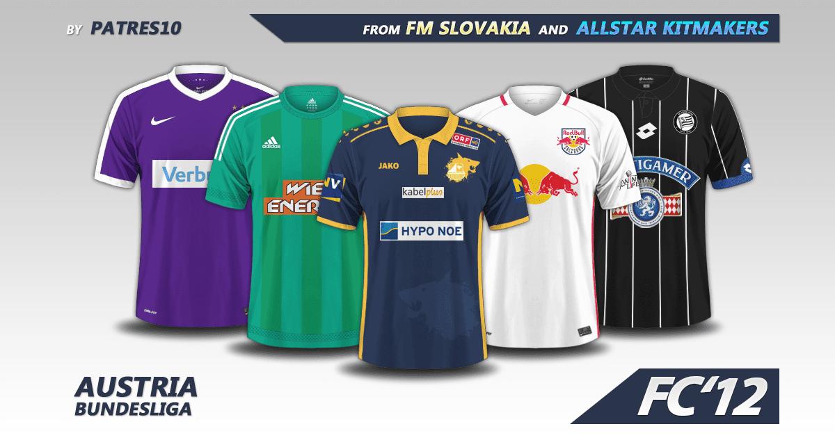 Football Manager 2017 Kits - Austria Bundesliga 2016/17 kits