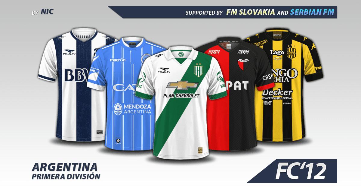 Football Manager 2017 Kits - Argentina Primera Division A 2016/17 kits