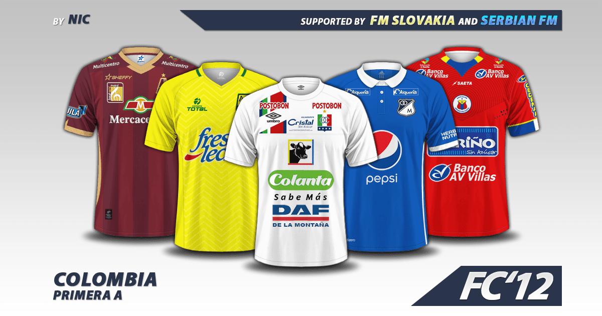Football Manager 2017 Kits - Colombia Liga Águila 2016 kits