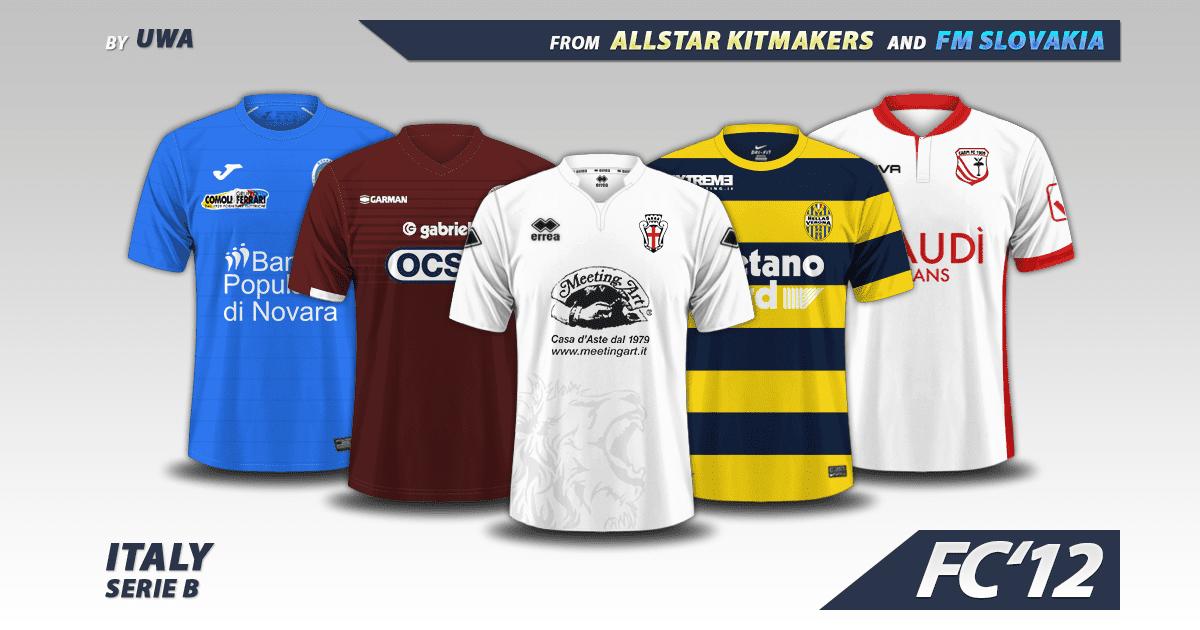 Football Manager 2017 Kits - Italy Serie B 2016/17 kits