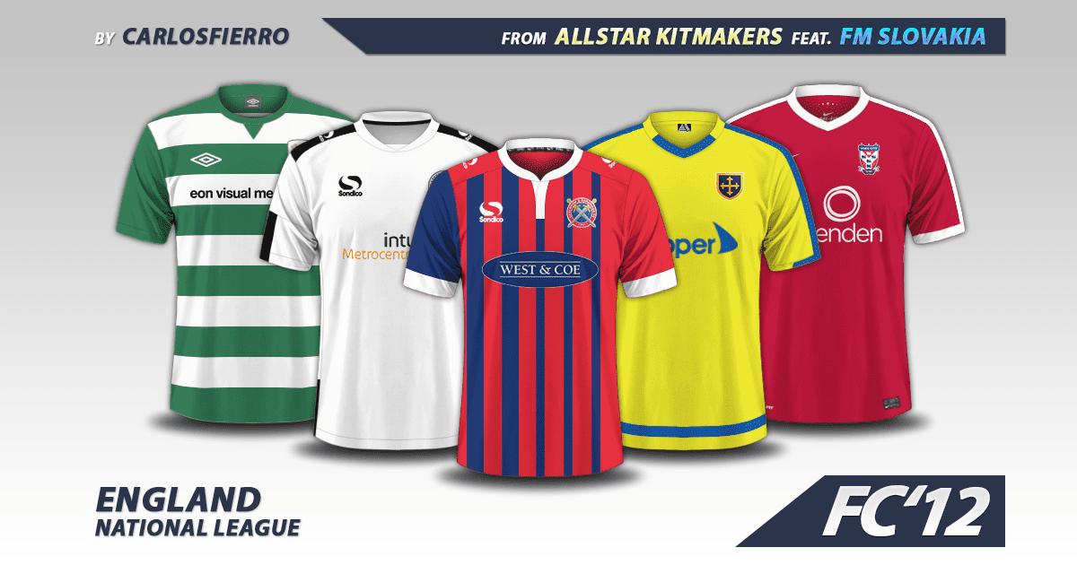 Football Manager 2017 Kits - England National League 2016/17 kits