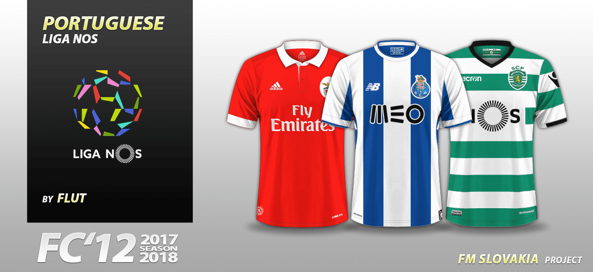Football Manager 2017 Kits - FC'12 Portugal Liga NOS 2017/18 kits (v1.02)