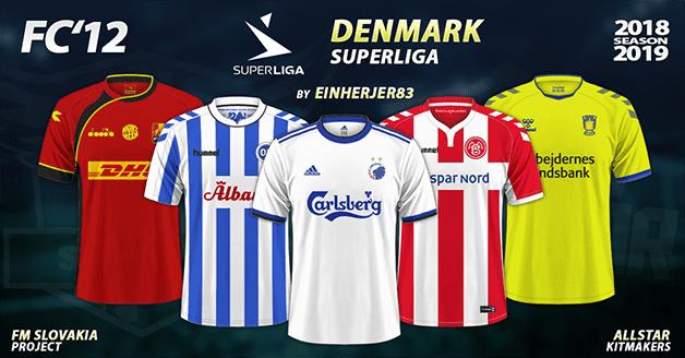 Football Manager 2019 Kits - FC'12 Denmark - Superligaen 2018/19