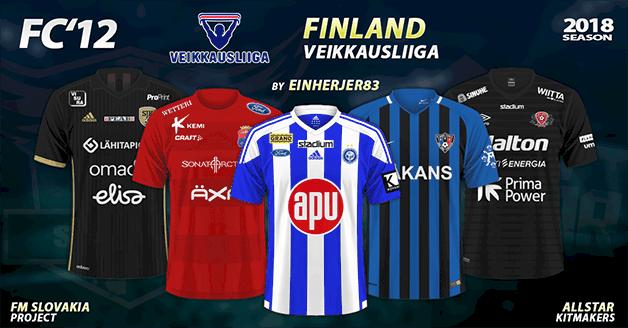 Football Manager 2018 Kits - FC'12 Finland – Veikkausliiga 2018
