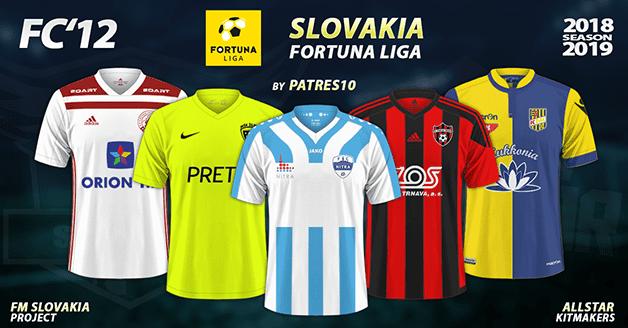Football Manager 2019 Kits - FC'12 Slovakia – Fortuna liga 2018/19