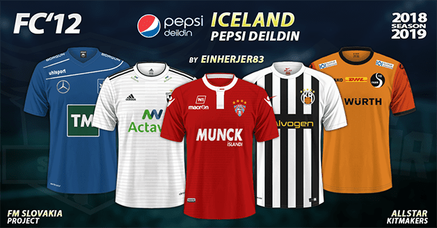 Football Manager 2019 Kits - FC'12 Iceland – Pepsi Deildin 2018