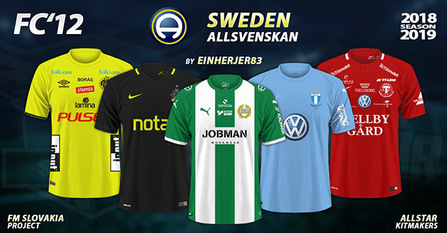 Football Manager 2019 Kits - FC'12 Sweden – Allsvenskan 2018
