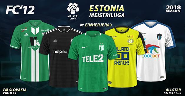 Football Manager 2019 Kits - FC'12 – Estonia – Meistriliiga 2018