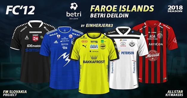 Football Manager 2019 Kits - FC'12 – Faroe Islands – Betri Deildin 2018