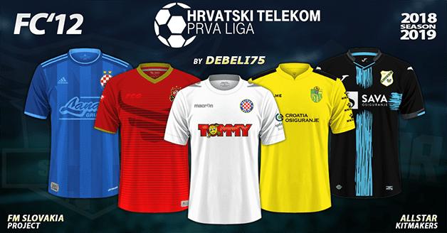 Football Manager 2019 Kits - FC'12 – Croatia – Hrvatski Telekom Prva liga 2018/19