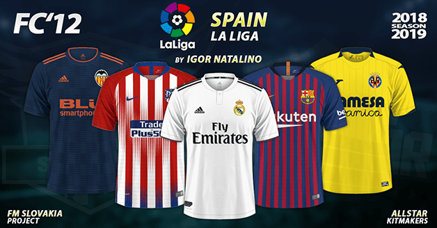 Football Manager 2019 Kits - FC'12 Spain – La Liga 2018/19