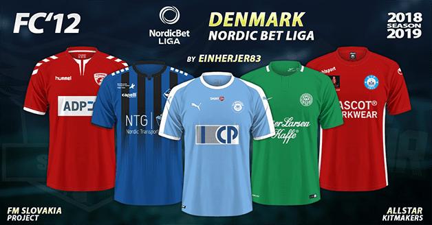 Football Manager 2019 Kits - FC'12 – Denmark – Nordic Bet Liga 2018/19