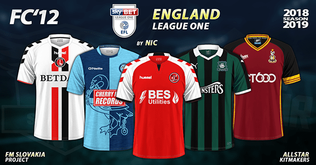Football Manager 2019 Kits - FC'12 – England – League One 2018/19