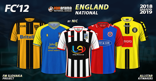 Football Manager 2019 Kits - FC'12 – England – National League 2018/19