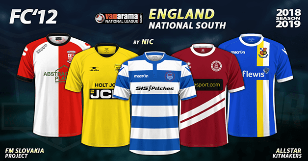 Football Manager 2019 Kits - FC'12 – England – National League South 2018/19
