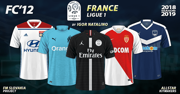 Football Manager 2019 Kits - FC'12 – France – Ligue 1 2018/19