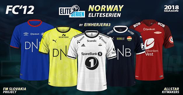 Football Manager 2019 Kits - FC'12 Norway – Eliteserien 2018