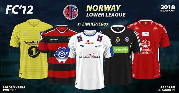 Football Manager 2019 Kits - FC'12 Norway – Various from lower leagues 2018