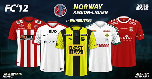 Football Manager 2019 Kits - FC'12 Norway – Region-ligaen 2018