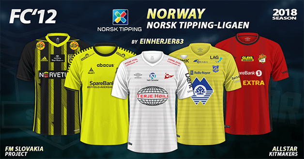 Football Manager 2019 Kits - FC'12 Norway – Norsk Tipping-ligaen 2018