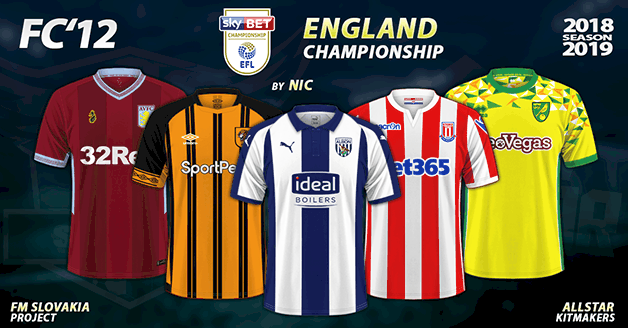 Football Manager 2019 Kits - FC'12 England – Championship 2018/19