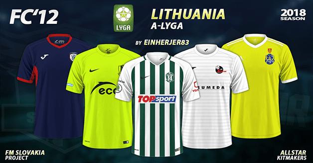Football Manager 2019 Kits - FC'12 – Lithuania – A-Lyga 2018