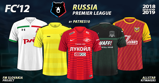 Football Manager 2019 Kits - FC'12 – Russia – Premier league 2018/19