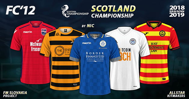 Football Manager 2019 Kits - FC'12 - Scotland – Championship 2018/19