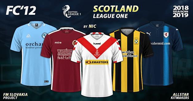 Football Manager 2019 Kits - FC'12 – Scotland – League One 2018/19