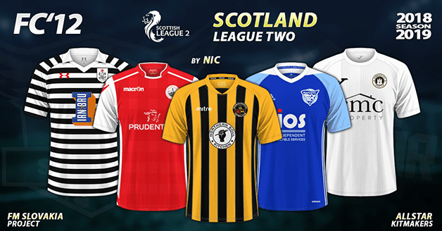 Football Manager 2019 Kits - FC'12 – Scotland – League Two 2018/19