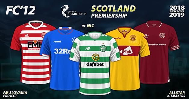 Football Manager 2019 Kits - FC'12 – Scotland – Premiership 2018/19