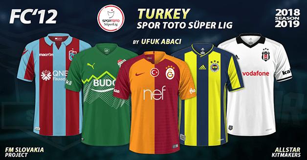 Football Manager 2019 Kits - FC'12 Turkey – Spor Toto Süper Lig 2018/19