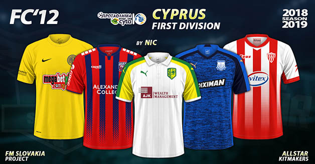 Football Manager 2019 Kits - FC'12 – Cyprus – Premier Division 2018/19