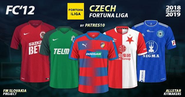 Football Manager 2019 Kits - FC'12 – Czech – Fortuna Liga 2018/19