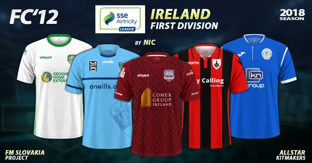 Football Manager 2019 Kits - FC'12 – Ireland – First Division 2018