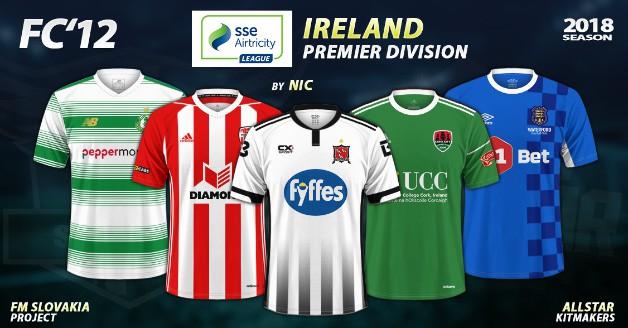 Football Manager 2019 Kits - FC'12 – Ireland – Premier Division 2018