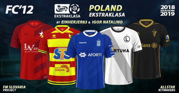 Football Manager 2019 Kits - FC'12 – Poland – Ekstraklasa 2018/19