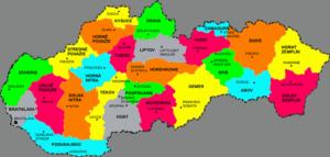 regiony slovensko