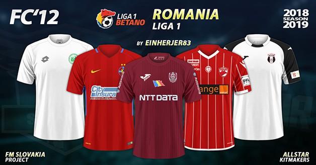 Football Manager 2019 Kits - FC'12 – Romania – Liga 1 2018/19