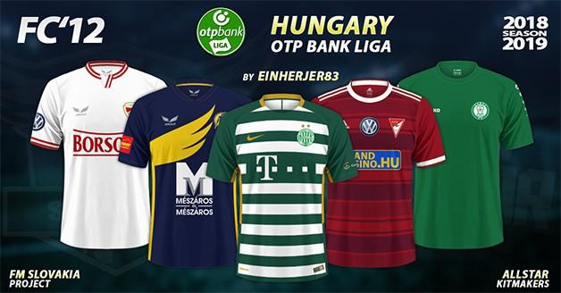 Football Manager 2019 Kits - FC'12 – Hungary – OTP Bank Liga 2018/19