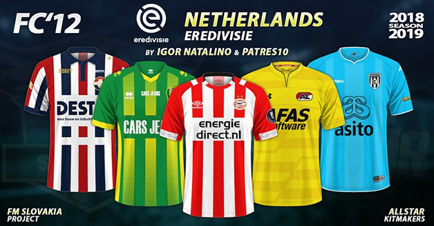 Football Manager 2019 Kits - FC'12 – Netherlands – Eredivisie 2018/19
