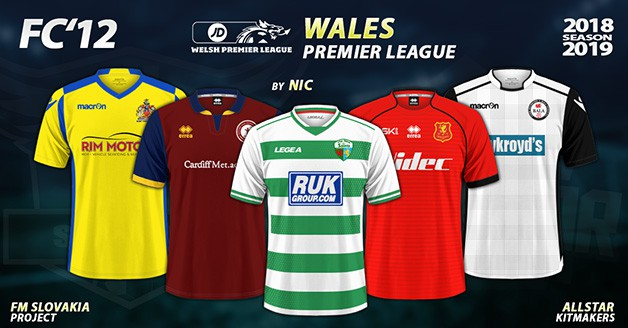 Football Manager 2019 Kits - FC'12 – Wales – Premier League 2018/19